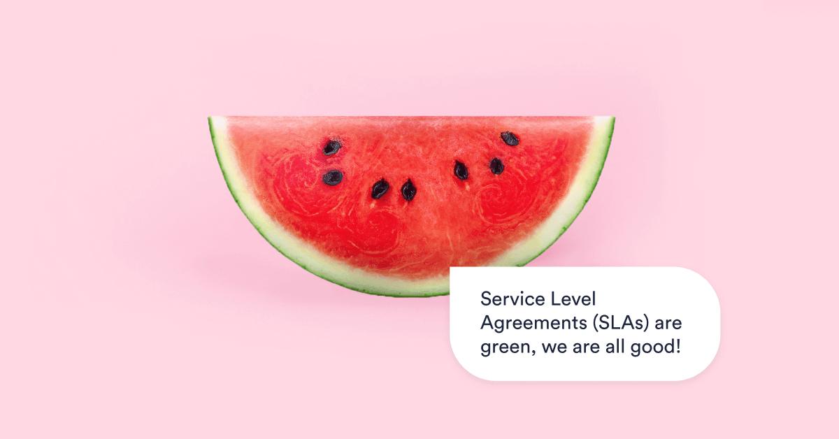 Watermelon effect